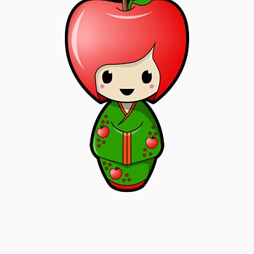 Apple Kokeshi Doll by BubbleDoll