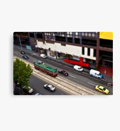 City Circle Miniature Canvas Print