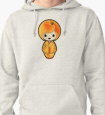 Peach Kokeshi Doll Pullover Hoodie