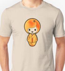 Peach Kokeshi Doll Slim Fit T-Shirt