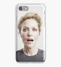 Gillian Anderson - quotes #2 iPhone Case/Skin