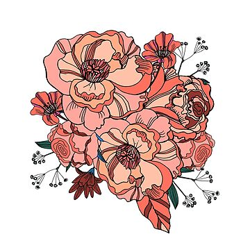 Coral roses by TrishaMcmillan
