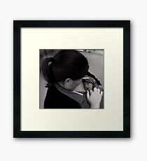 I can hear mummy's heart beat! Framed Print