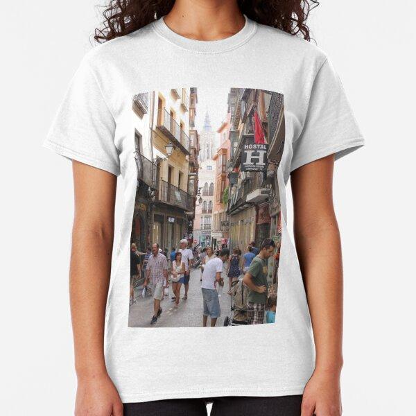 #Toledo, #street, #city, #shopping, #tourist, #people, #town, #road, #tourism Classic T-Shirt