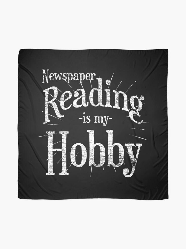 Alternate view of Newspaper hobby Scarf