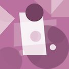 Muted Pinky-Purple Workout Abstract by Jenny Meehan by Jenny Meehan
