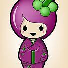 Mangosteen Kokeshi Doll by Bubble Doll