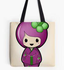 Mangosteen Kokeshi Doll Tote Bag
