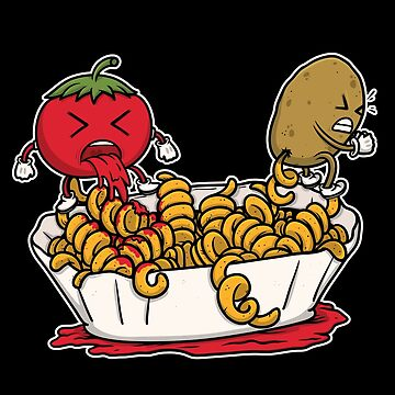 curly fries ketchup production tomato potato gift by Khal1