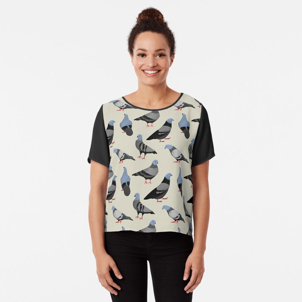 Design 33 - Die Tauben Chiffon Top