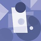 Muted Blue Workout Geometric Abstract by Jenny Meehan by Jenny Meehan