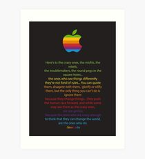 Apple/ Steve Jobs The Crazy Ones  Art Print