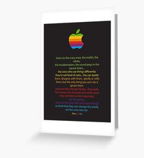 Apple/ Steve Jobs The Crazy Ones  Greeting Card