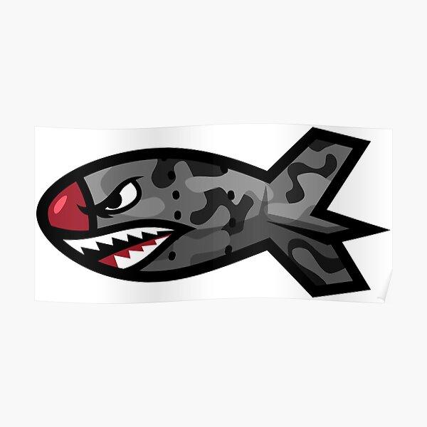 Bape Shark Bomb Torpedo Póster