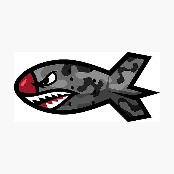 Bape Shark Bomb Torpedo Photographic Print
