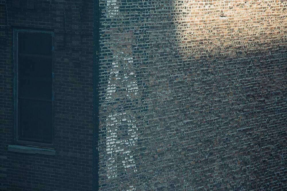 new york brick wall in half light by meanderthal