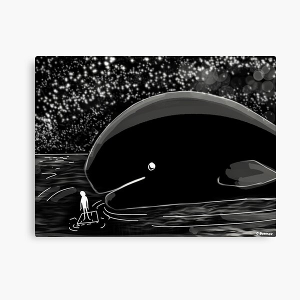 Whale in the Night  Canvas Print