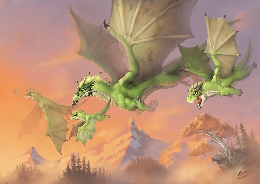 Green Dragons by Bcesart
