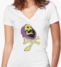 Pirate Skeletor Women's Fitted V-Neck T-Shirt
