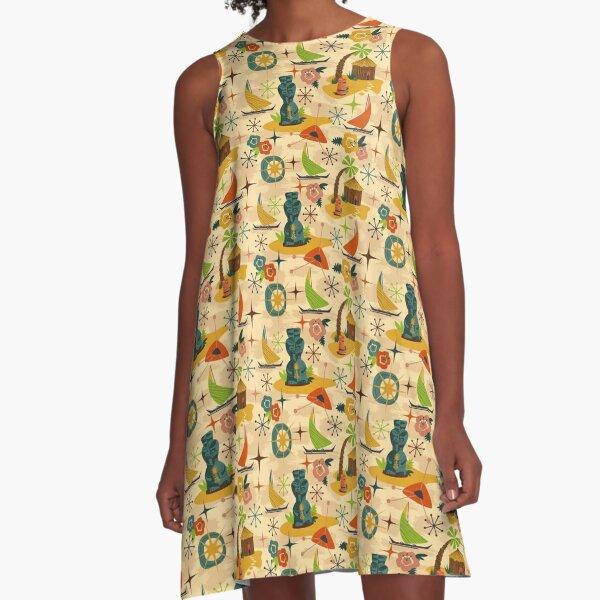 Mid Mod Tiki A-Line Dress