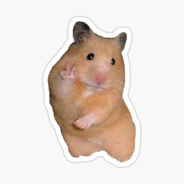 Peace Sign Hamster Sticker