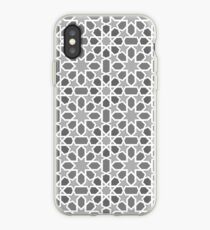 Black and white pattern, geometric design, oriental style iPhone-Hülle & Cover