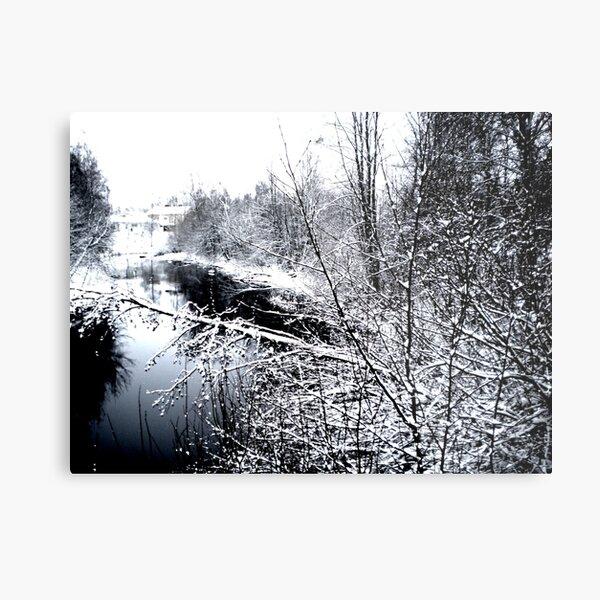 River Frozen  Metal Print