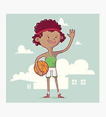 Basket boy Photographic Print