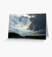 Menacing clouds - Clontarf Beach Greeting Card