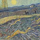 Vincent Van Gogh, Laboureur dans un champ, Oil on canvas, Painting for sale, VanGogh view out his asylum window, Painted from his window at the hospital, Farmer plowing the land by Design Team