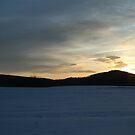 Snowy Sunset by MandieM