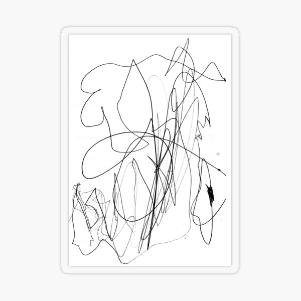 #illustration #design #art #outline silhouette abstract shape decoration Transparent Sticker