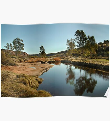 The Ancient Finke River at Palm Valley,N.T. Poster