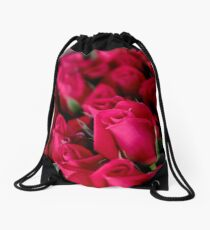 I love the roses from the Farmers Markets Drawstring Bag