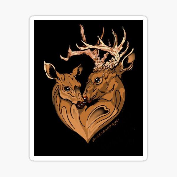 deer love Sticker