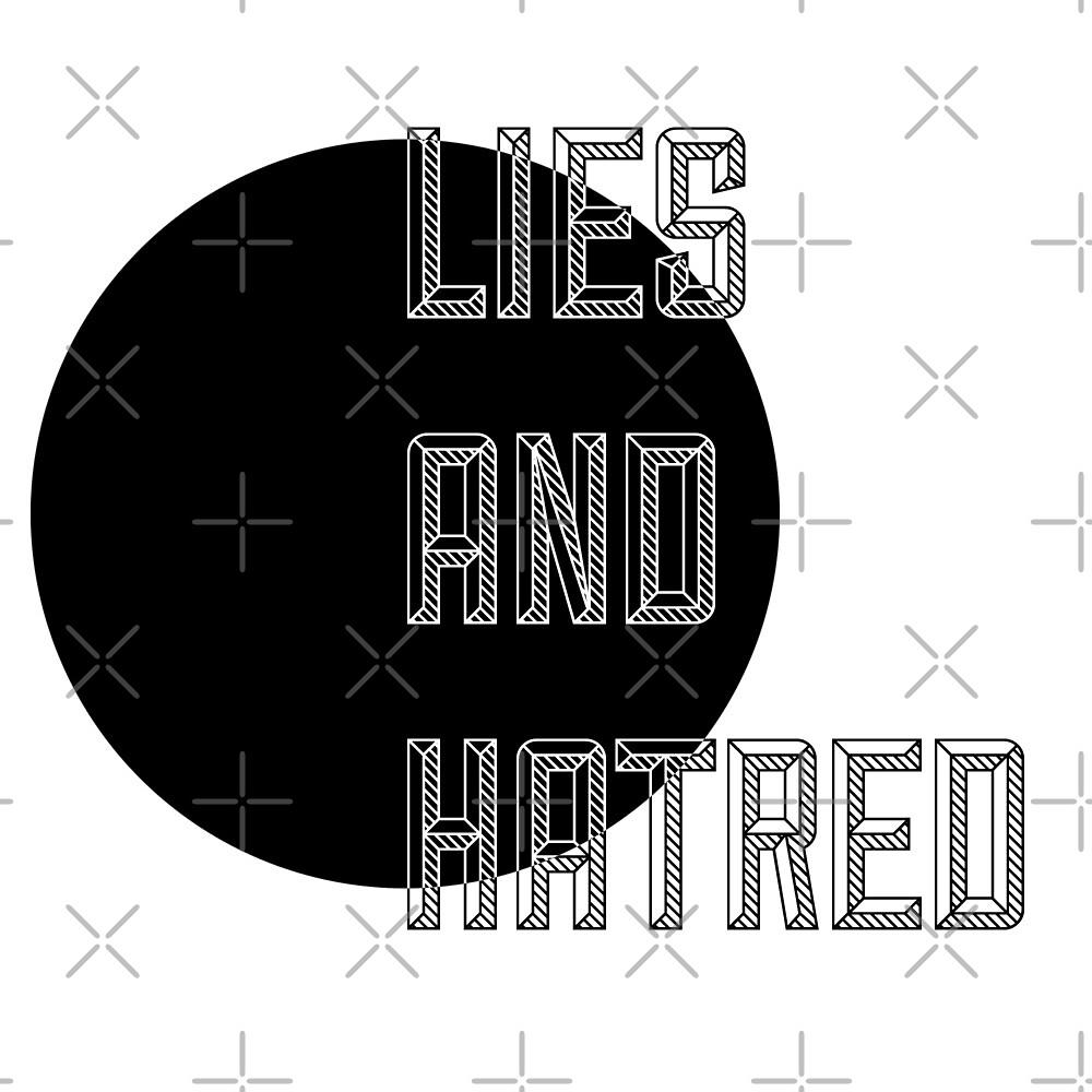 Mentiras Y Odio V1 De Thelostsigil Redbubble