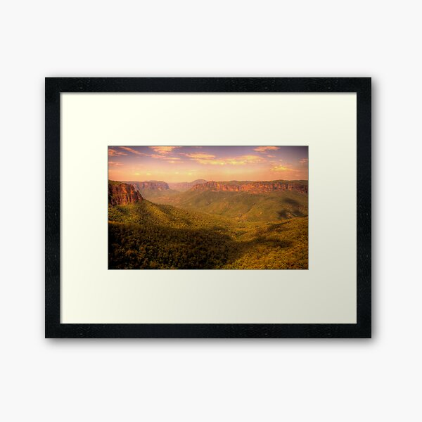 Leap of Faith - Govetts Leap, Blue Mountains World Heritage Area - The HDR Experience Framed Art Print