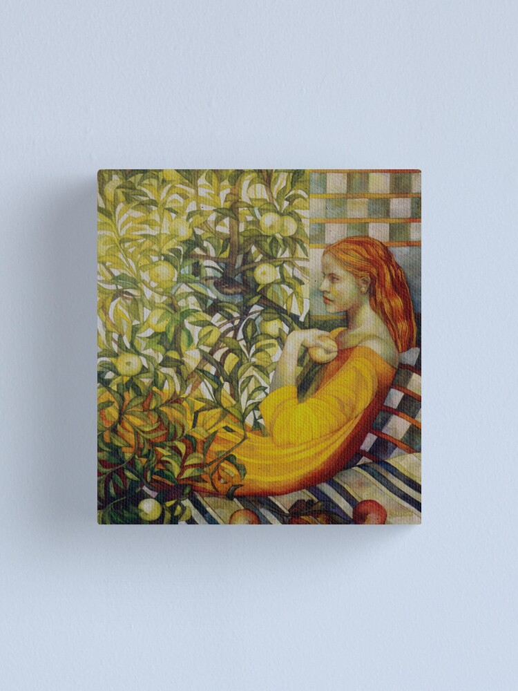 Alternate view of the apples lady Canvas Print