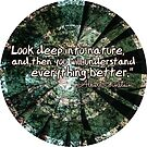 circle of trees, nature quote by SJohnsonartist