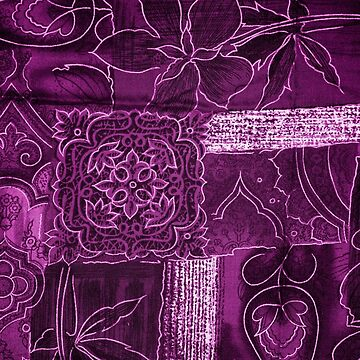 Purple Flowers Pattern by nicolaspro15