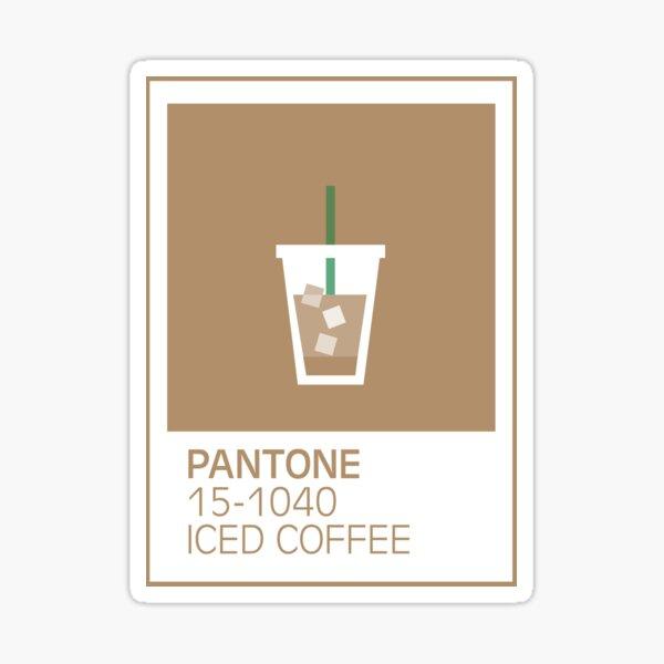 PANTONE 15-1040 ICED COFFEE Sticker