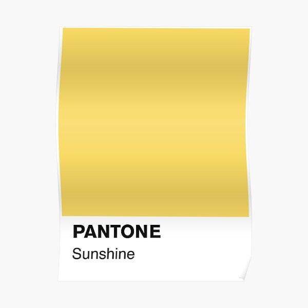 Pantone Sunshine Poster