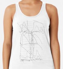 #lineart, #blackandwhite, #diagram, #chalkout, #illustration, #sketch, #design, #art Women's Tank Top