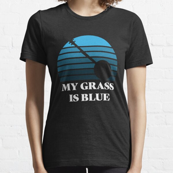Retro Banjo My Grass is Blue T-Shirt Essential T-Shirt