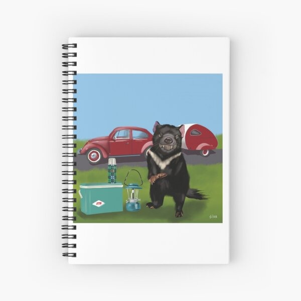 Terry the Tasmanian Devil Spiral Notebook