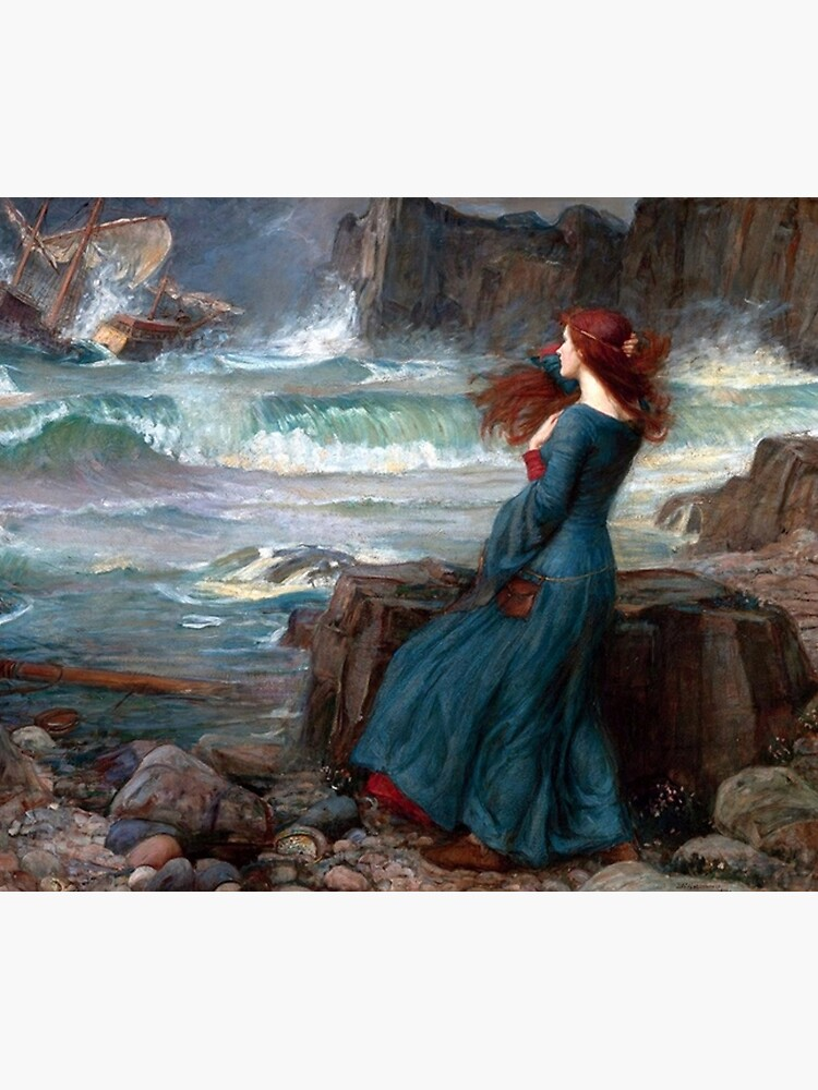 Miranda The Tempest John William Waterhouse by historicalstuff