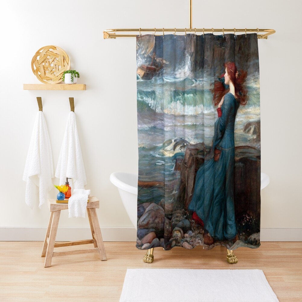 Miranda The Tempest John William Waterhouse Shower Curtain