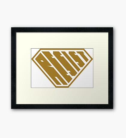 Resist SuperEmpowered (Gold) Framed Art Print