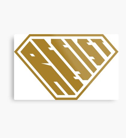 Resist SuperEmpowered (Gold) Metal Print