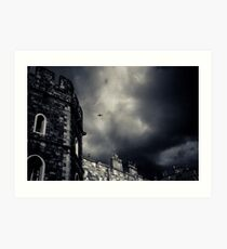 Windsor Castle with aeroplane Art Print